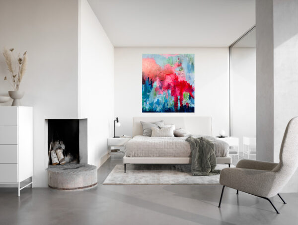 Love Story Contemporary Abstract by Cassandra Gaisford